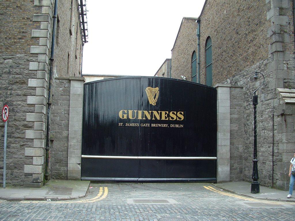 Entrance of Guinness Storehouse